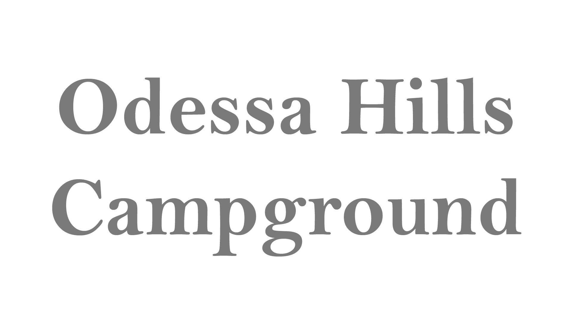 Odessa Hills Campground
